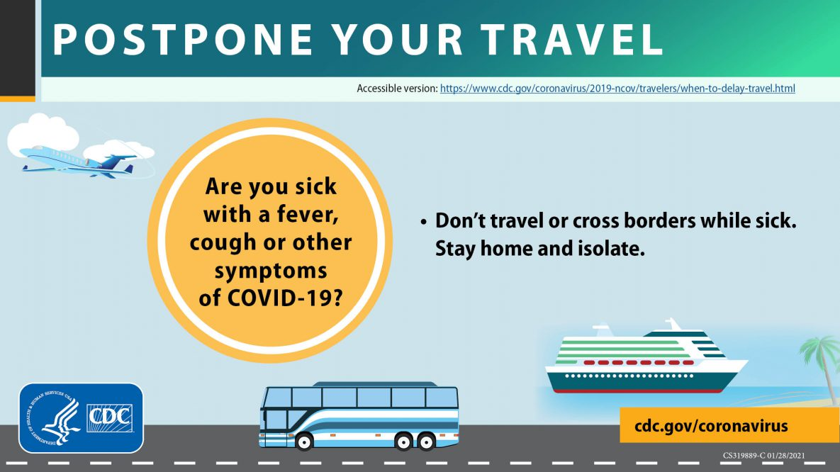 Postpone travel covid-19 symptoms