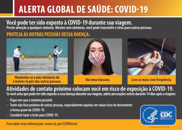 Global Health Alert: COVID-19, You may have been exposed to COVID-19 while traveling.