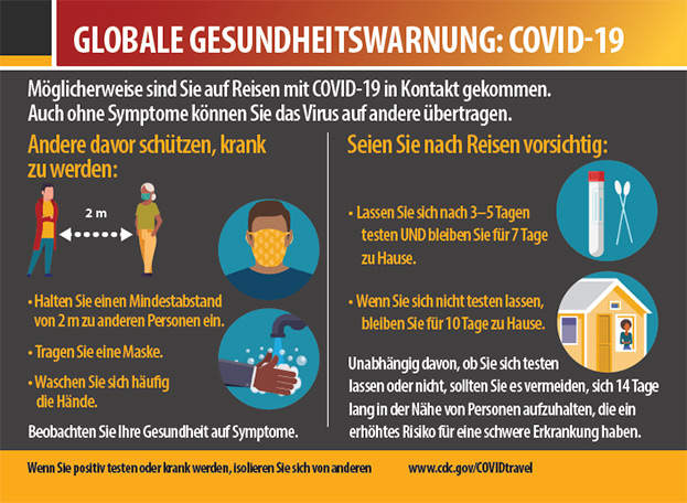 GLOBALE GESUNDHEITSWARNUNG: COVID-19