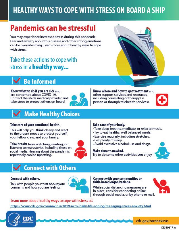 Infografía:Alternativas saludables para sobrellevar el estrés a bordo de un barco -Vista en miniatura