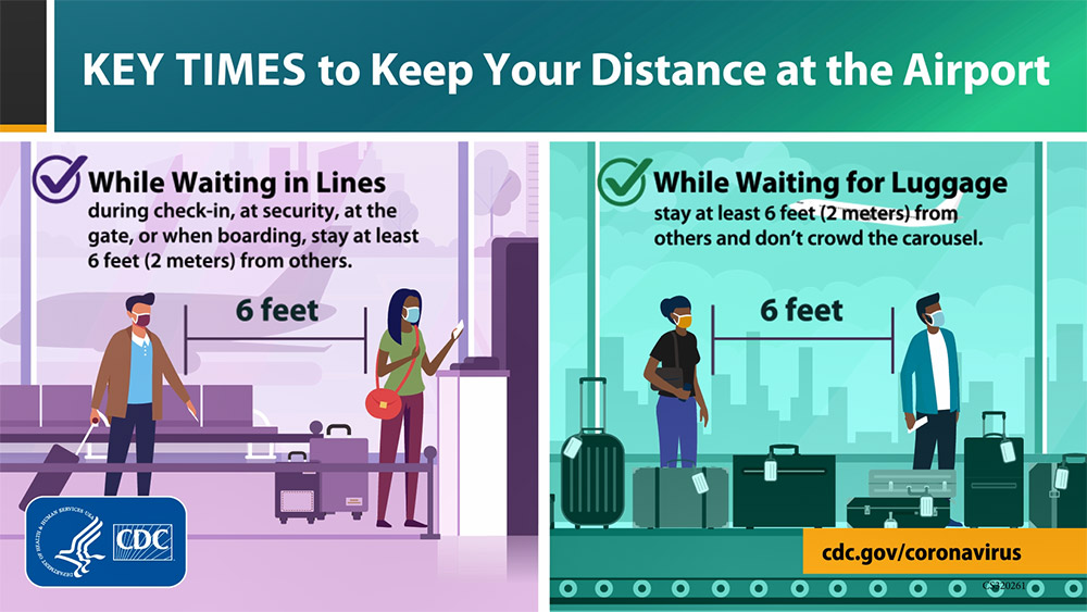 Key Times to Keep your Distance at the Airport