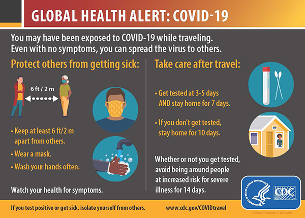 Travelers' Health Alert Notice (T-HAN) English