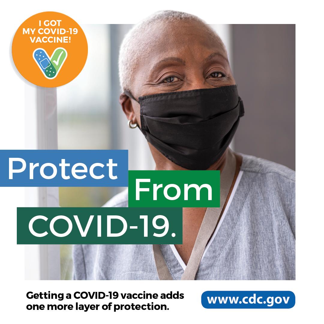 La vacuna contra elCOVID-19 agrega una capa más de protección.
