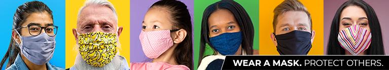 마스크 착용, 주변 사람을 지키는 방법입니다.
