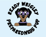 Ready Wrigley Preparedness Pup badge