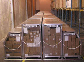 Photograph of push packages of medical supplies