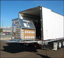 Photograph of push packages being shipped