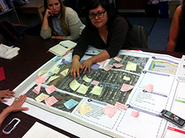 4/30/2013 - Jen Gasang brought a visual aide that helped her describe the work that led to the N Judah Turnaround Project.