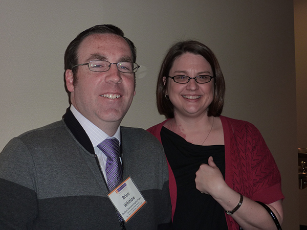 Brian Whitlow with SF CARD and Stephanie Brady with the Independent Living Center, Inc Joplin, Missouri.
