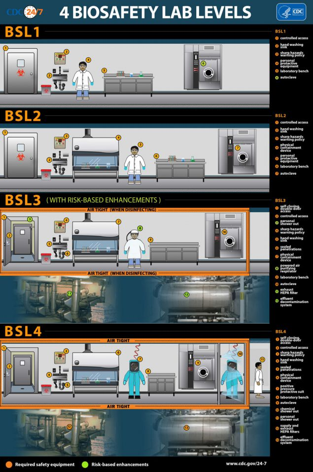 Infographic: Biosafety Lab Levels