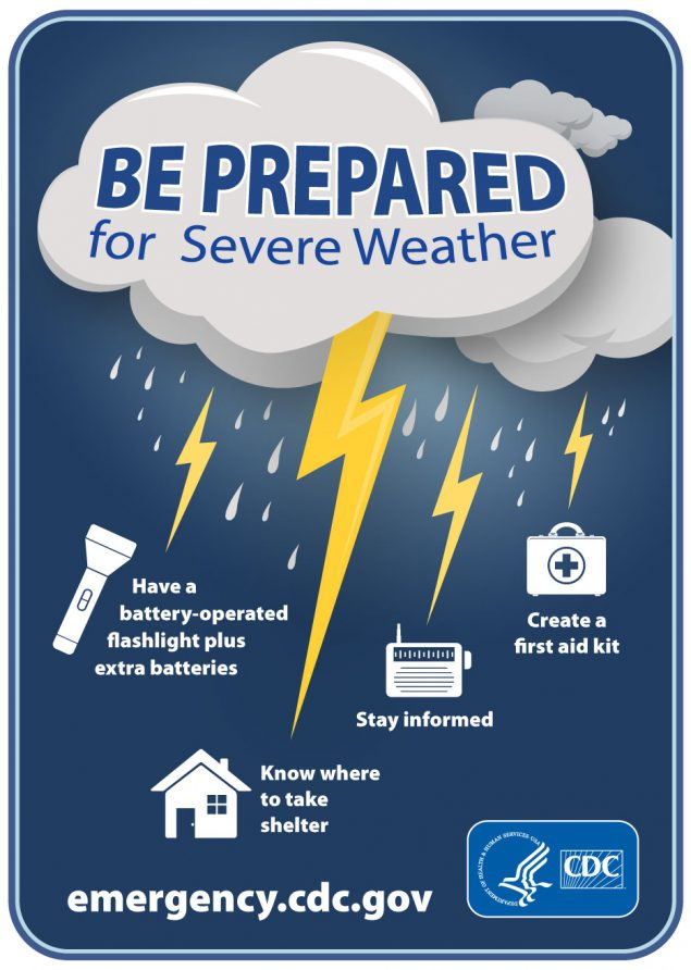 Infographic: Be Prepared for Severe Weather