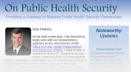 Public Health Security Newsletter
