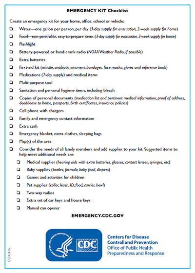 Keep Calm and Be Prepared Checklist