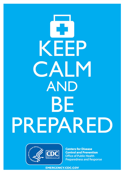 Keep Calm and Be Prepared (Blue)