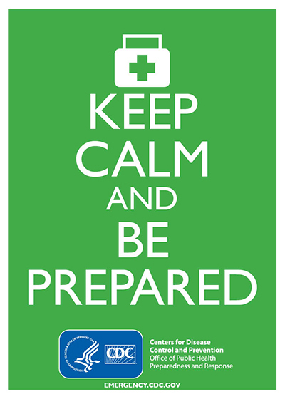 Keep Calm and Be Prepared (Green)