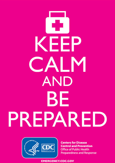 Keep Calm and Be Prepared (Pink)