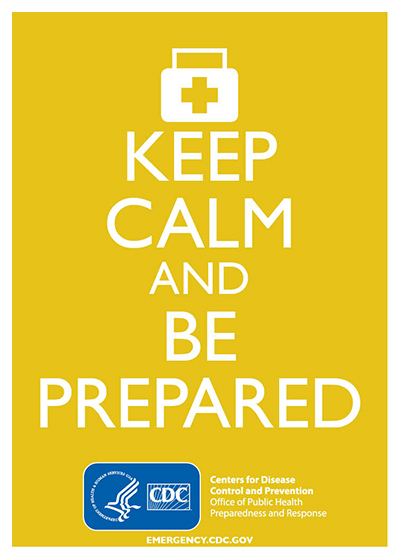 Keep Calm and Be Prepared (Yellow)