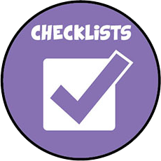 Ready Wrigley checklist icon.