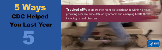 Tracked 65% of emergency room visits nationwide within 48 hours, providing near real-time data on symptoms and emerging health threats including natural disasters