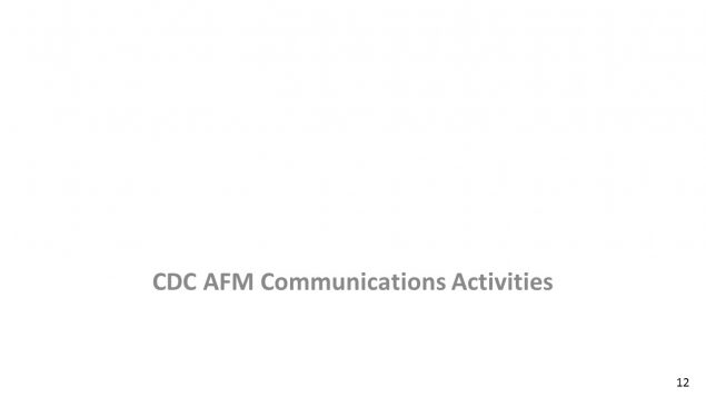 CDC AFM Communications Activities