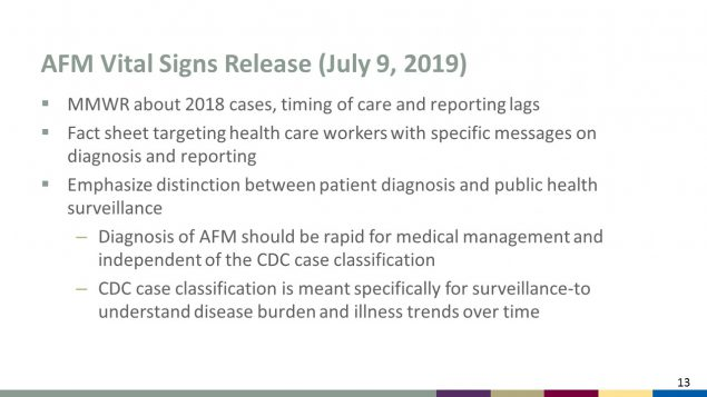 AFM Vital Signs Release (July 9, 2019)