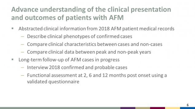 Advance understanding of the clinical presentation and outcomes of patients with AFM