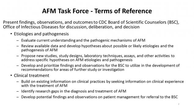 AFM Task Force - Terms of Reference