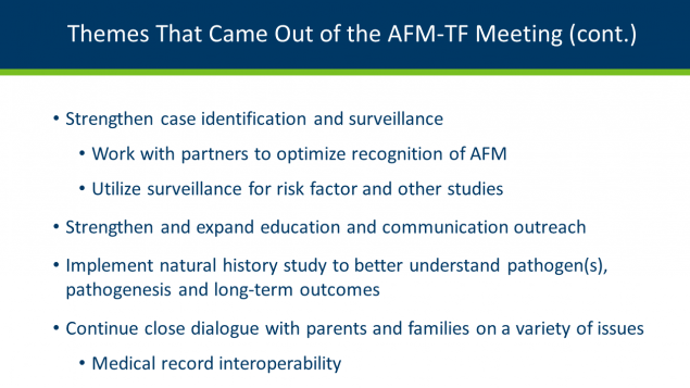 Themes that came out of the AFM Taskforce meeting
