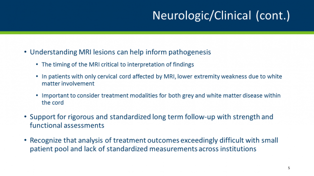 Neurological and clinical continued, page 5