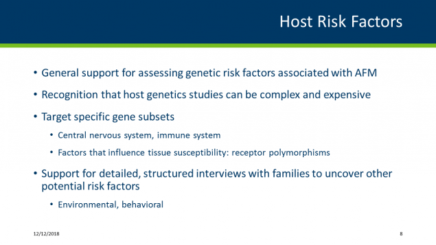 Host risk factors