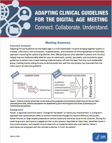 Adapting Clinical Guidelines for the Digital Age Meeting Summary