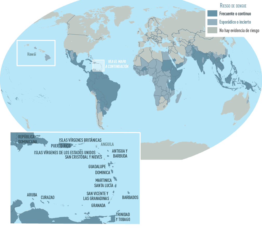 El Dengue En El Mundo Dengue Cdc