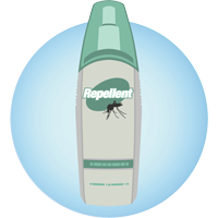 A bottle of insect repellent.