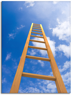 Ladder going up into the sky.