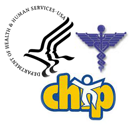 CDC, Children's Health Insurance Program, and Medicare/Medicaid logos.