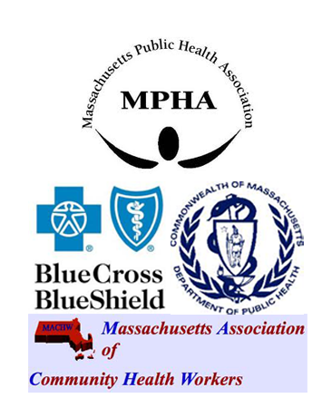 MPHA, Blue Cross/Blue Shield, MACHW, and Massachusetts Department of Public Health logos.