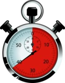 A stopwatch.