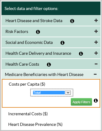 Costs select map area screenshot.
