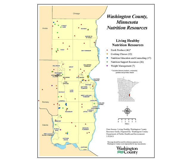 Gis Exchange Map Details Washington County Mn Nutrition Resources