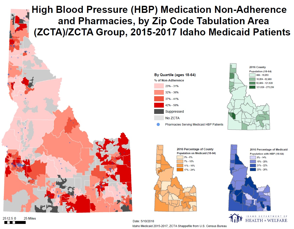 Picture of: High Blood Pressure Medication Non Adherence In Idaho Cdc