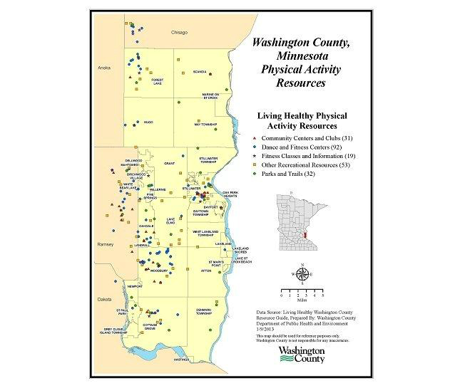 GIS ExchangeMap Details Washington County MN Physical Activity - Washington county map