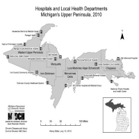 Hospitals and Local Health DepartmentsMichigan's Upper Peninsula, 2010