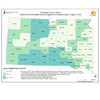 Percent of South Dakota Women Eligible for All Women Count! Program