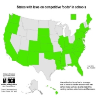 States with laws on competitive* foods in schools