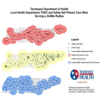 Local Health Department, FQHC and Safety Net Primary Care Sites, Tennessee Department of Health, Jan. 2010