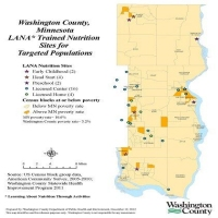 Washington County, MN LANA Trained Nutrition Sites for Targeted Populations