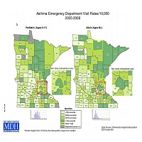Asthma Emergency Department Visit Rates - Rates/10,000, 2005-2008