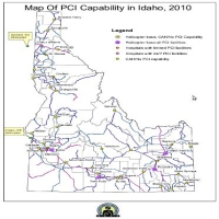 Map of PCI Capability in Idaho, 2010