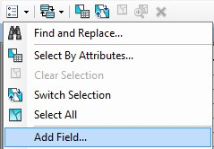 The Add Field option is highlighted.