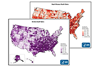 Quick Maps of Heart Disease and Stroke
